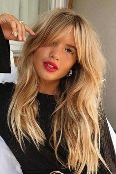 coiffure femme tendance 2018 frange #hairstyles