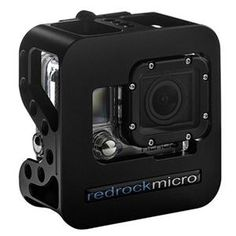 Cobalt Camera Cage for GoPro by Redrock Micro // Drones, Gopro Drone, Gopro Camera, Camera Gear, Little Camera, Mini Camera, Gopro Action, Gopro Hero 3, Cobalt