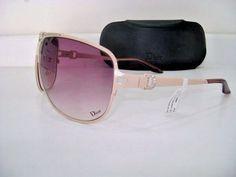 Christian Dior  Ladies Womens Aviator New case Jewel Sunglasses pink swarofski  #CHRISTIANDIOR