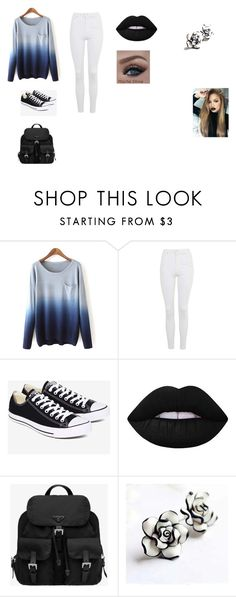 """""""Untitled #27"""" by shortiiiee on Polyvore featuring Topshop, Converse, Lime Crime and Prada"""