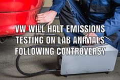 Volkswagen says it will stop using animals in lab tests after reports it hired researchers who made lab animals breathe fumes from the VW's diesel models. Product Liability, Vw Beetles, Monkeys, Volkswagen, Diesel, Lab, German, Health, Animals