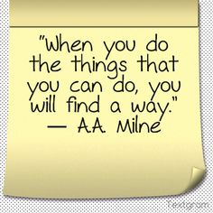 a quotes from A.A. Milne