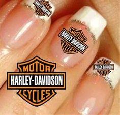 Harley Davidson Nail Art Stickers   Harley Davidson Mark 2 Sizes Nail ...