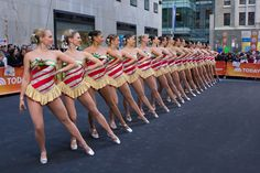 Rockettes perform at Rockefeller Plaza on the Today Show 2013.