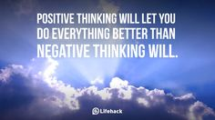 positive thinking will let you do everything better than negative thinking will Influence Quotes, Positive Quotes For Women, Think Happy Thoughts, Negative Thinking, Everything Is Awesome, Marketing Quotes, Staying Positive, Understanding Yourself, Self Help