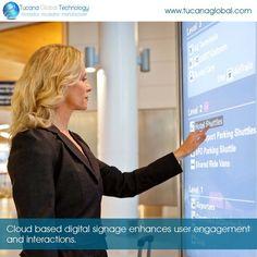 #Cloud based #digitalsignage #enhances user #engagement and #interactions. #TucanaGlobalTechnology #Manufacturer #Hongkong