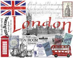 London Digital Art - London Fine Art Print