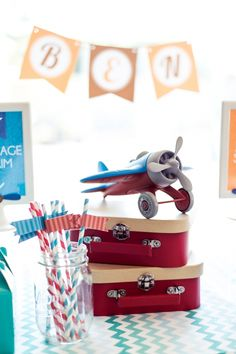 Boys Airplane Themed Party Plane Decoration Ideas