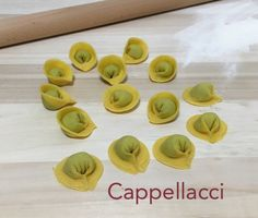 Today for #pastalover at #handsonpasta: Cappellacci. Fresh #handmadepasta #fromscratch with #italianflour and #farmereggs, stuffed with fresh ricotta cheese and spinach.