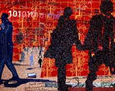 Coming to the City conceived by Clive van den Berg and produced by Yellowwoods Art Mosaic Art, Mosaic Glass, Mosaics, Glass Ceramic, African Artwork, South African Art, Out Of Africa, Graffiti Wall, Art Academy