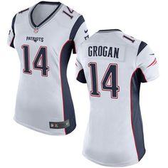 Nike Limited Steve Grogan White Women's Jersey - New England Patriots #14 NFL Road