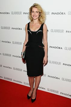 Natalia Vodianova arriving for the Glamour Women Of The Year Awards 2012 Find Your Match, Natalia Vodianova, Awards, Glamour, Black, Dresses, Women, Fashion, Vestidos
