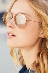Gold Aviator Style Sunglasses With Mirror Lens (654534X53)   £12.50 #MyBigMoment
