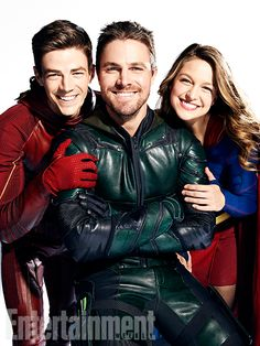 Okay, so we only really have a few actual pictures from the upcoming mega crossover between Supergirl, Arrow, Flash, and Legends of Tomorrow—and everyone looks appropriately stern or heroic for a crossover about an evil alien invasion. But the pictures shot for Entertainment Weekly to go with it? So much joy.