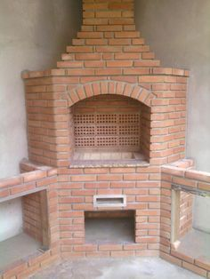 Outdoor Barbeque, Outdoor Kitchen Patio, Outdoor Stove, Pizza Oven Outdoor, Brick Built Bbq, Brick Grill, Barbecue Design, Grill Design, Diy Log Cabin