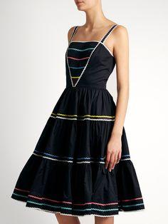 Ric-rac trimmed cotton dress | Anna October | MATCHESFASHION.COM US
