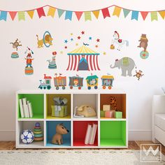 Circus Animals Removable Wall Decals for Nursery or Kids Room