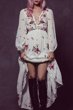Bohemian Dresses | White And Long Bohemian Dresses For Women Fashion Style Online | ZAFUL