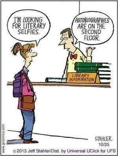 These bookish cartoons are sure to make you laugh out loud. Featuring hilarious library puns, funny literary jokes, and more. Library Memes, Library Quotes, Library Books, Library Ideas, Library Cards, I Love Books, Good Books, Books To Read, My Books
