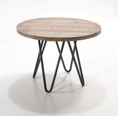 Industrialny stolik kawowy - Hairpin