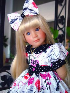 """Dress fits Kidz n Cats. Sonja Hartmann, 18', 19"""" slim doll. LittleCharmersDoll #SonjaHartmanKidznCats"""