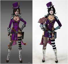 Borderlands 2 - Mad Moxxi (Character vs Cosplay ) by DariaRooz on DeviantArt Cosplay Outfits, Cosplay Girls, Cosplay Costumes, Cosplay Ideas, Cosplay Diy, Anime Cosplay, Borderlands Cosplay, Borderlands Art, Borderlands Series