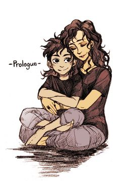 Percy as a son of Hades AU with his mom.