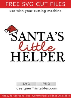Santas little helper svg, Santas helper printable, free Christmas countdown svgs, free holiday svg cut file, free cut file for cricut, diy christmas decor