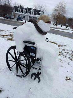 Snowman on wheels - fun! http://www.wheel-life.org