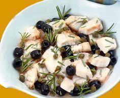 bocconcini di pesce spada olive e rosmarino