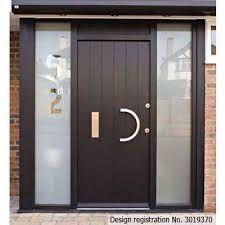 Contemporary Front Doors UK - designs e-range Porto Contemporary Front Doors, Modern Front Door, Simple Home Decoration, Cottage Door, Main Door Design, Take That, External Doors, Outdoor Doors, Wood Doors