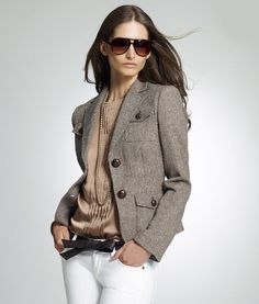 Fall Must Haves: 12 Terrific Tweed Pieces Tweed Blazer – The Frisky