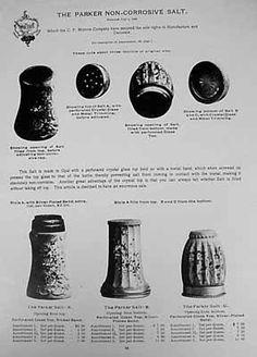 Catalog Reprint for Parker Salts