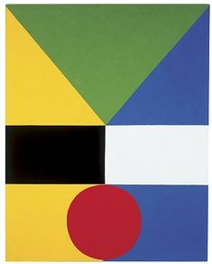 Opposing #15 (1959) Artist: Frederick Hammersley. It displays one of the defining characteristics of many hard-edge paintings, which was the presence of rich and saturated color, clean lines, and flat surface, and a disregard for relationships between the colors that comprise the painting.