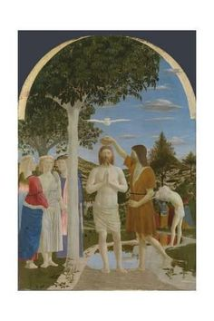 Giclee Print: The Baptism of Christ, 1450S by Piero della Francesca : 24x16in