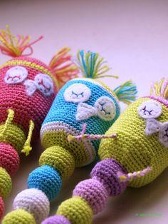 Ravelry: Antris' Crochet owl rattle