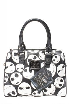 Inked Boutique - Jack Faces Black/White Mini City Handbag Jack Skellington Nightmare Before Christmas http://www.inkedboutique.com