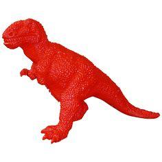 2002 Chinese Red Fiberglass Dinosaur Sculpture by Jiango Sui