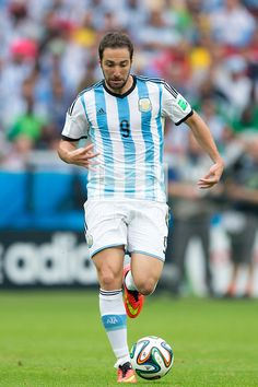 Gonzalo Higuain of Argentina in the 2014 World Cup