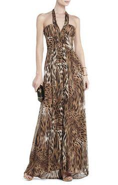 Starr Deep V-Neck Halter Dress - NDD6W195-003 - $238.80
