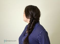 Fishtail braid 💖 #fishtail #braid #hair #extensions #brunette #longhair