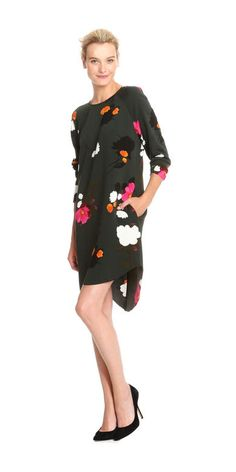 Fall Floral Dress by @joefresh at @jcpenney | Beauty and the Binky blog | holiday, portraits, mommy style