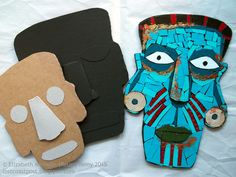 Lost Coast Post: Paper Mosaic Aztec-Inspired Masks Next Up in the Classroom