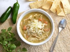 This healthy and flavorful White Chicken Chili practically makes itself in the slow cooker. Easy, healthy, delicious. Step by step photos.