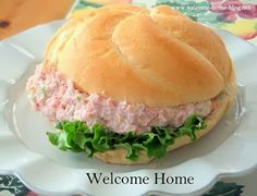 What's for lunch today? Well I see some leftover ham.not enough to make a whole meal but perfect for just a ham san. Ham Recipes, Salad Recipes, Cooking Recipes, Meatloaf Recipes, Salad Dishes, Pork Dishes, Salads, Sandwich Fillings, Salad