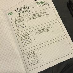 Special dates/ yearly events pages - not monthly, not tasks or appointments but events and dates to remember only. Bullet journal