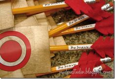 These are easy to make and inexpensive party favors for your outdoor movie party featuring Brave - A unique movie night theming idea from Southern Outdoor Cinema
