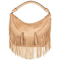 Fashion concealed carry.  The Desert Fringed Hobo in Beige.  Saint Sabrina.