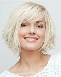 short bob hairstyles for thin fine hair Visit us at DisconnectedHair for more great ideas. Short Hair With Layers, Short Hair Cuts, Short Fine Hair, Short Bob Hairstyles, Hairstyles Haircuts, Long Hairstyle, Short Choppy Haircuts, Choppy Cut, Haircut Short