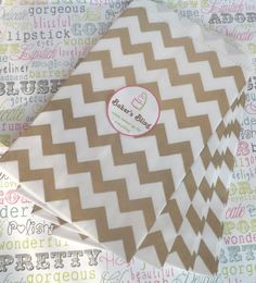 Gold Chevron Paper Bags for Candy Bars, Favors and Packaging Gifts (100 count) on Etsy, $15.04 CAD